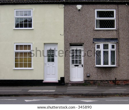 two cottages identical but with their own identities