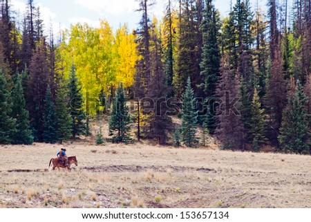 Two cowboys after long day of work on the ranch in Colorado. - stock photo