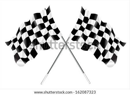 two crossed checkered flags.