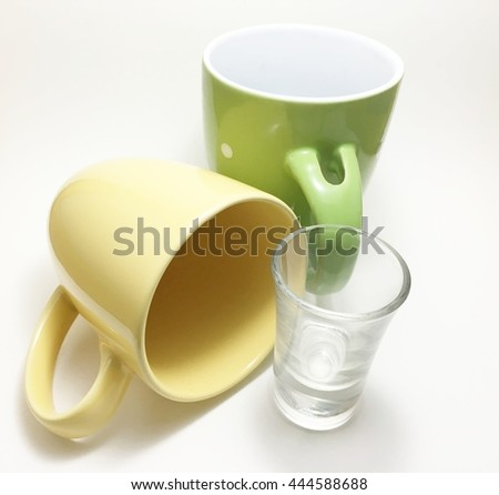 two cup is stand - stock photo
