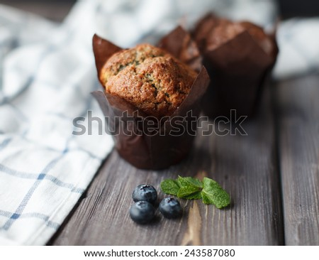 two cupcakes - stock photo
