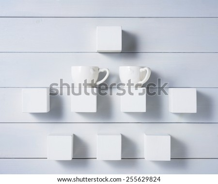 two cups abstract - stock photo