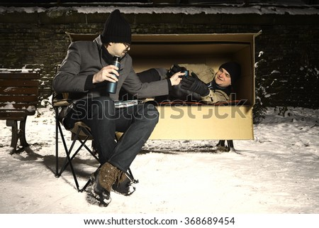 Two desperate men in troubles - stock photo