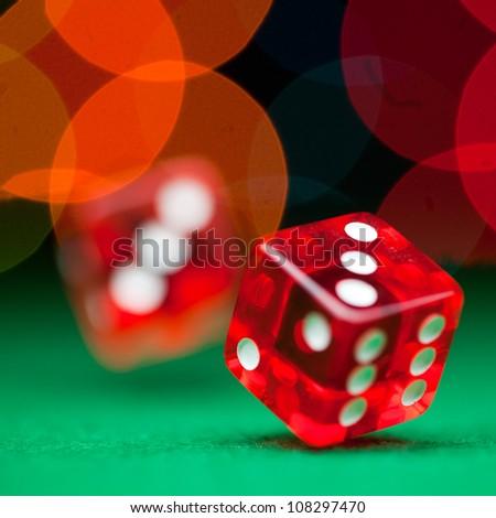 Two dice - stock photo