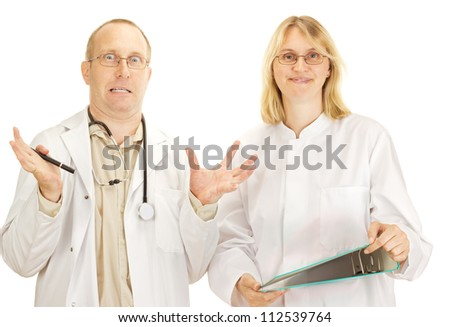 Two doctors arguing - stock photo