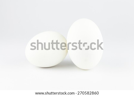 Two duck eggs isolated on a white background
