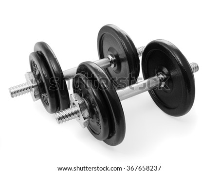 Two dumbbells set