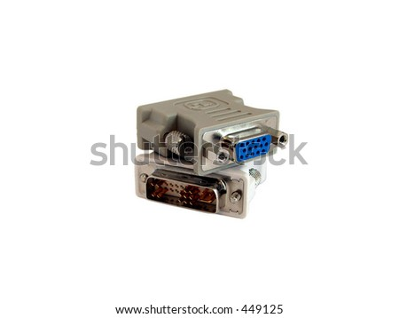 two dvi to vga converters