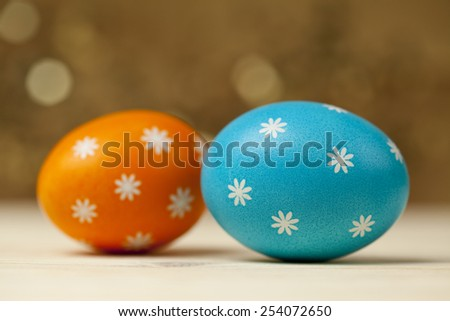 Two Easter eggs  - stock photo