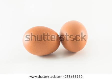 Two eggs. Isolated on white background - stock photo