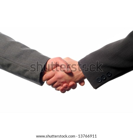 Two elegant businessman shaking hands