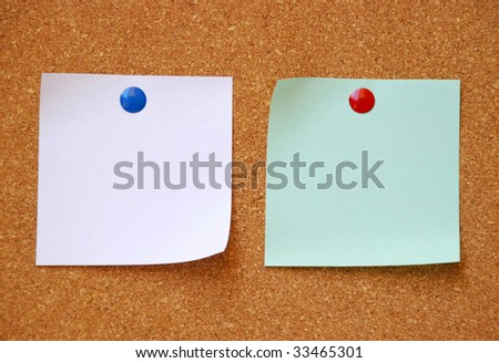 two empty stickers