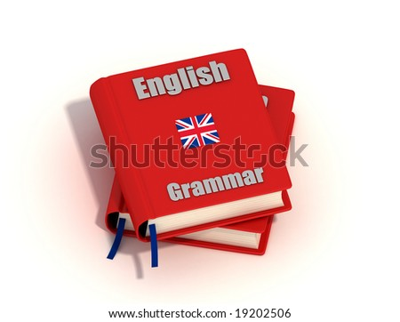 Two English grammar isolated on white background