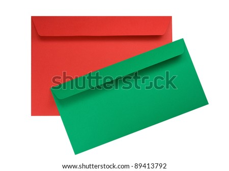 Two envelopes isolated on a white background - stock photo