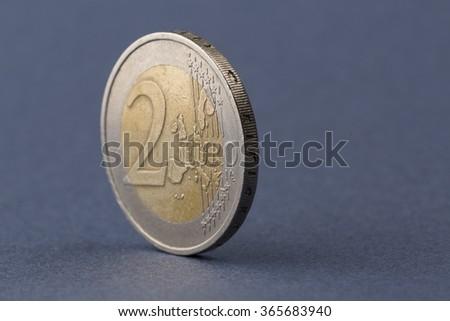 Two euro coin - stock photo