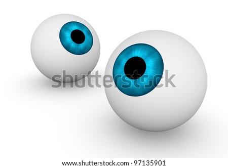Two eyeballs - stock photo