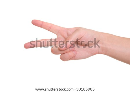 two finger - stock photo