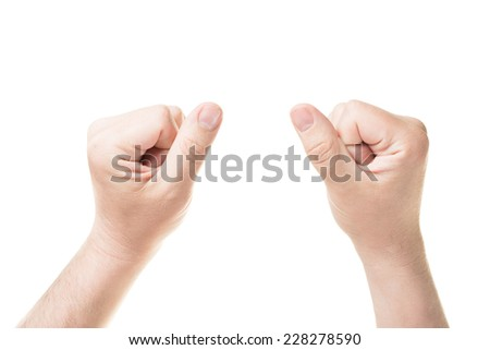 two fists - stock photo
