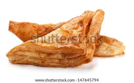 Two fresh puff on the white background - stock photo