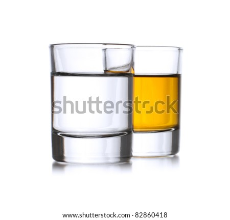 Two full shots with liqueur