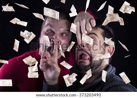 two funny stupid men 