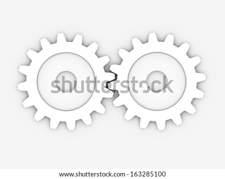 two gear to place concepts with clipping path