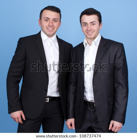 Two gents smartly dressed