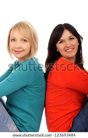 two girlfriends / girlfriends - stock photo