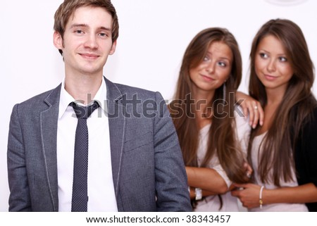 Two girls and one young man