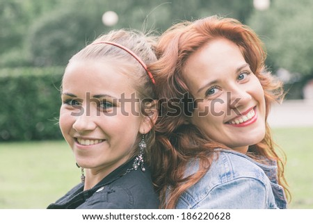 Two Girls at Park in Tallinn