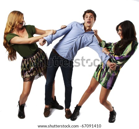 Two Girls fighting over a guy