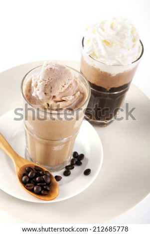 Two glass of ice coffee
