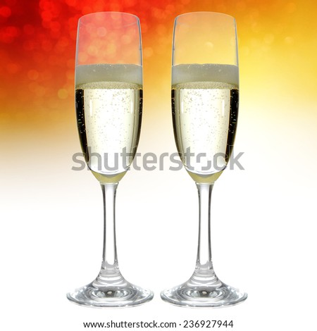 two glasses and champagne