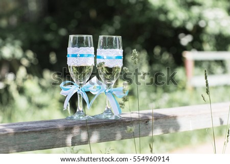 Two glasses wedding