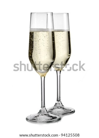 Two glasses with champagne