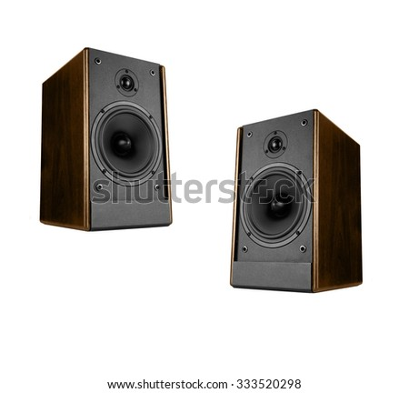 Two great loud speakers - stock photo