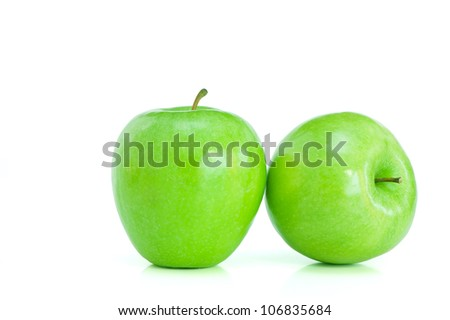 Two green apples