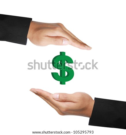 two  hand in protecting money