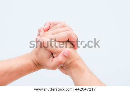 two hand isolated on white background