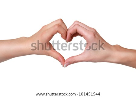 Two hands forming a heart