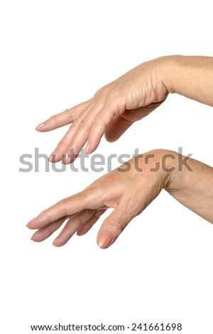 Two hands on an isolated background