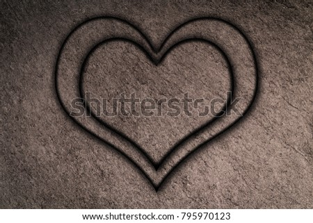Two Heart Frame Black Slate Background Stock Photo (Safe to Use ...
