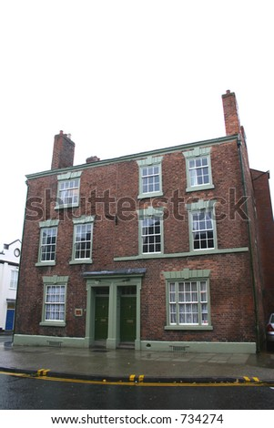 Two Historic Houses in Chester - stock photo