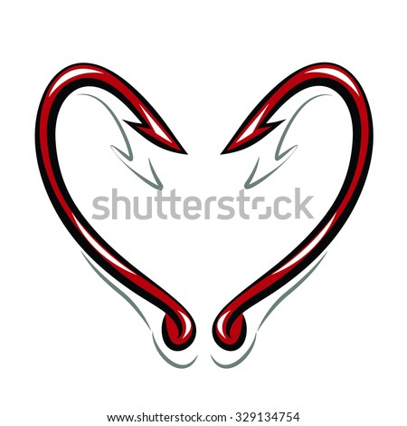Two hooks in the shape of a heart.