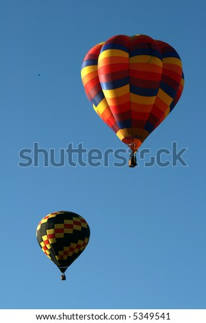 Two hot air balloons - stock photo