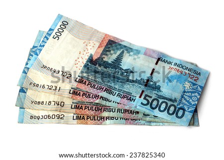 two hundred thousand Indonesian rupiah - stock photo