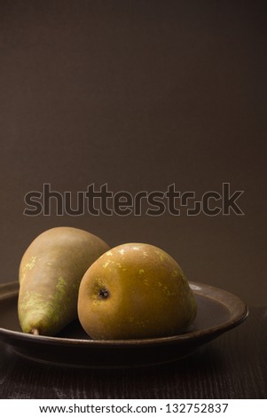 Two Isolated Pears