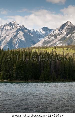 two jack lake - stock photo