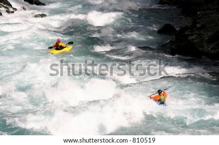 two kayaks - stock photo