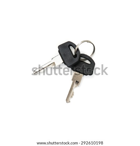 Two keys on the white background.